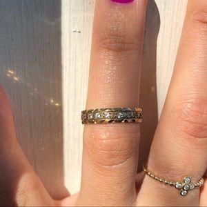 9 ct solid gold midi ring